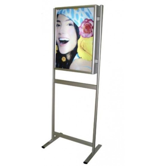 DOUBLE SIDED ILLUMINATED LIGHT BOX  FREE STANDING