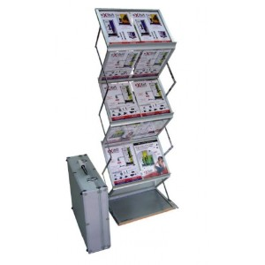 STEP UP BROCHURE STAND - (with Aluminum Case)