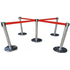 RETRACTABLE QUEUE STANDS – 4 WAY